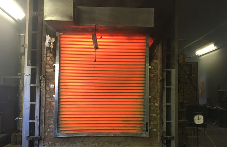 Fire-roller-shutter-after-2 hours