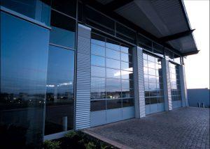 Mercedes-dealership-Sectional-Garage-Doors
