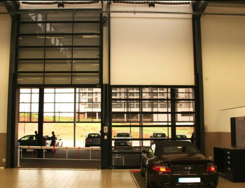 Porsche Dealership Sectional Garage Doors
