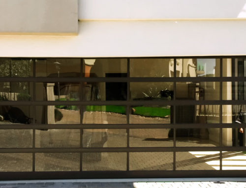 Panoramic Bronze Tinted Glass Garage Door